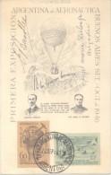 AUTOGRAFOS DE EDUARDO BRADLEY Y ANGEL MARIA  ZULOAGA SOBRE FDC DE 1940 PRIMERA EXPOSICION ARGENTINA AERONAUTICA