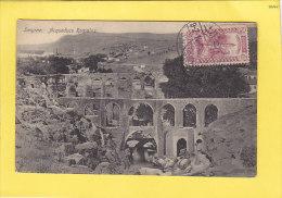 CPA -  SMYRNE - Acqueducs Romains  - Cachet Timbre Stamp - 1914