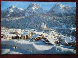 Scuol / Schuls (GR) - Panorama Winter Bahnpost - GR Grisons