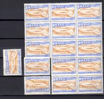 1950  Coupe Du Monde De Football, 15 X  PA 63 / 64**, Cote 165 €, - Briefe U. Dokumente