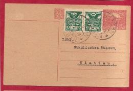 LD-702   ENTIER POSTALE     NYRSK   1920        Naar  KLATTAU     Met Bijfrankering - Cartes Postales