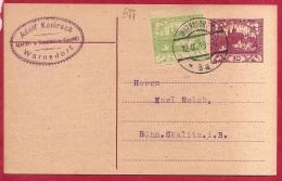 LD-677   ENTIER POSTALE     WARNDORF  1       1919         Naar  SKALITZ        Met Bijfrankering - Cartes Postales