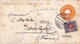 Mexique Mexico Période Révolutionnaire Révolution Via Laredo New York 1909 - Mexico