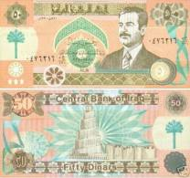 SADDAM HUSSEIN 50 DINAR NOTE 1991 P75 UNC - Iraq