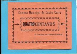 CASTRO DAIRE - CÉDULA De 4 (QUATRO) CENTAVOS - 1922 - M. A. 648A - Escassa - PORTUGAL - EMERGENCY PAPER MONEY - NOTGELD - Portugal