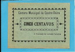 CASTRO DAIRE - CÉDULA De 5 (CINCO) CENTAVOS - 1922 - M. A. 647.a - Escassa - PORTUGAL - EMERGENCY PAPER MONEY - NOTGELD - Portugal