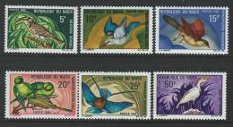 Niger 1968 SC 207-212 MNH Birds - Niger (1960-...)