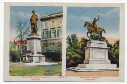 METZ - MONUMENT FREDERIC CHARLES AUTREFOIS ET MONUMENT LAFAYETTE AUJOURD'HUI - CPA VOYAGEE - Metz
