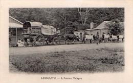 Cpa  Lessouto --  L Ancien  Wagon (  Tres Belle Carte Animee ) - Lesotho