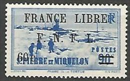 SPM FRANCE LIBRE N� 276 NEUF* TRACE DE CHARNIERE / MH