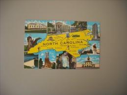 ETATS UNIS NC NORTH CAROLINA MAP CARTE........... - Etats-Unis