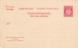 P 52 I  Ziffer Im Posthorn 10 Öre  - Brevkort - Carte Postale - Postwaardestukken