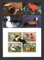 "ONU NY 2003 : Carte Maximum "" CALAO BICORNE / IBIS ROUGE / CANARD A BOSSE / DENDROCYGNE.."". N° YT 906/909. Parf état. CM - Briefmarken"