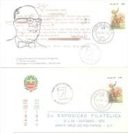 HOMENAGEM A GUIMARAES ROSA 2 FDC BRASIL BRESIL BRAZIL AÑO 1978 RARES ENVELOPPES ENVELOPES SOBRES