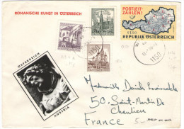 AUSTRIA - ÖSTERREICH - AUTRICHE - 1966 - Postleit Zahlen + 1S + 20g + 30g + Little Photo - Romanische Kunst In Österr... - 1961-70 Covers
