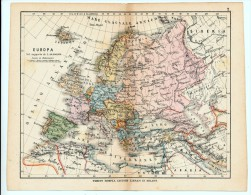 ULRICO HOEPLI DEL R. KIEPERT - EUROPA - 1880 - Carte Geographique