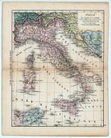 ULRICO HOEPLI DEL R. KIEPERT - ITALIA - 1880 - Carte Geographique