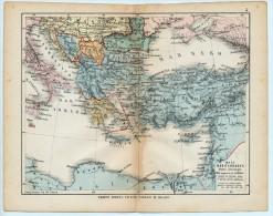 ULRICO HOEPLI DEL R. KIEPERT - MARE MEDITERRANEO PARTE ORIENTALE - 1880 - Carte Geographique