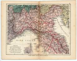 ULRICO HOEPLI DEL R. KIEPERT - ITALIA SETTENTRIONALE - 1880 - Carte Geographique
