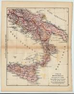ULRICO HOEPLI DEL R. KIEPERT - ITALIA MERIDIONALE - 1880 - Carte Geographique
