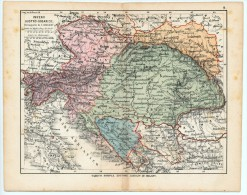 ULRICO HOEPLI DEL R. KIEPERT - IMPERO AUSTRO UNGARICO - 1880 - Carte Geographique