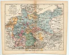ULRICO HOEPLI DEL R. KIEPERT - IMPERO GERMANICO E PAESI BASSI - 1880 - Carte Geographique