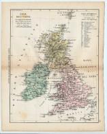 ULRICO HOEPLI DEL R. KIEPERT - GRAN BRETAGNA - 1880 - Carte Geographique