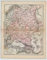 ULRICO HOEPLI DEL R. KIEPERT - RUSSIA EUROPEA - 1880 - Carte Geographique