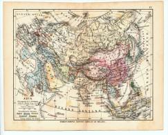 ULRICO HOEPLI DEL R. KIEPERT - ASIA - 1880 - Carte Geographique