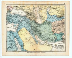 ULRICO HOEPLI DEL R. KIEPERT - ASIA OCCIDENTALE - 1880 - Carte Geographique