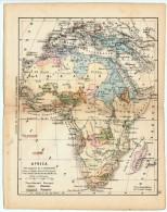 ULRICO HOEPLI DEL R. KIEPERT - AFRICA - 1880 - Carte Geographique