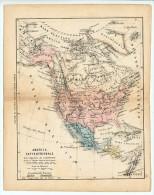 ULRICO HOEPLI DEL R. KIEPERT - AMERICA SETTENTRIONALE - 1880 - Carte Geographique