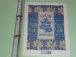 BUVARD COLLECTION    BENETTON  8 U C B  WORLD United Colors Of Benetton Italie - Cinéma & Théatre