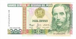 RB 1046 -  Peru 1000 Intis Banknote - Mint Condition - Perú