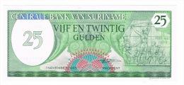 RB 1046 -  Suriname 25 Gulden Banknote - Mint Condition - Surinam