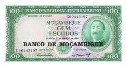 RB 1046 -  Mozambique Macambique 100 Escudo Banknote - Mint Condition - Mozambique