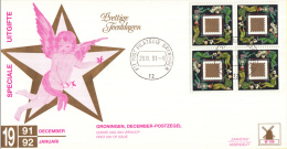 Nederland - W-enveloppe/Philato - 28-11-1991 - Decemberzegel - ROM W74 - NVPH 1487 Blok - FDC