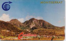 MONTSERRAT PHONECARDS MOUNTAIN CN:3CMTB  -25500pcs-1/91-USED(8)