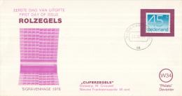 Nederland - W-enveloppe/Philato - 23-11-1976 - Cijferzegels Crouwel - ROM W34 - NVPH 1112A - FDC