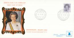 Nederland - W-enveloppe/Philato - 9-3-1982 - Koningin Beatrix In Zwart - ROM W47/NVPH 1238 - FDC