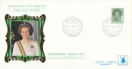 Nederland - W-enveloppe/Philato - 9-3-1982 - Koningin Beatrix In Zwart - ROM W48/NVPH 1240 - FDC
