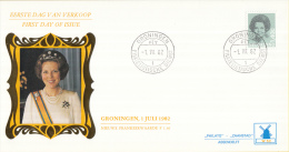Nederland - W-enveloppe/Philato - 1-7-1982 - Koningin Beatrix In Zwart - ROM W52/NVPH 1243 - FDC