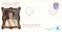 Nederland - W-enveloppe/Philato - 2-9-1982 - Koningin Beatrix In Zwart - ROM W56/NVPH 1244 - FDC
