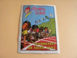 Autocollant, Sticker-  Athlétic Soleil  - Kilomètres De Soleil 1992 -              (507.P21) - Autocollants