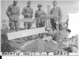 France 1918 Tombe De L'aviateur Américain Quentin Roosvelt Photo Us Army 1 Photo 14-18 1914-1918 Ww1 WW1 Wk1 - War, Military