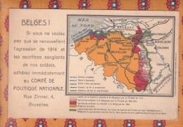 1 Cpa Belges Si Vous Ne Voulez Pas Que Se Renouvellent L Agression De 1914 Comite Politique Nationale Bruxelles - Weltkrieg 1914-18