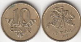 Lituania 10 Centu 1998 Km#106 - Used - Lituania
