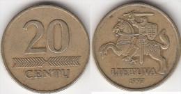 Lituania 20 Centu 1997 Km#107 - Used - Lituania