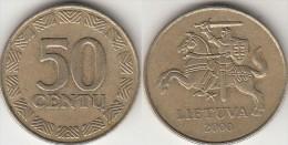 Lituania 50 Centu 2000 Km#108 - Used - Lituania