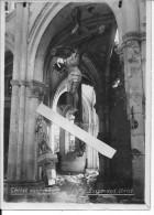France Christ Suspendu Dans Une église En Partie Détruite 1 Photo 14-18 1914-1918 Ww1 WW1 Wk1 - War, Military